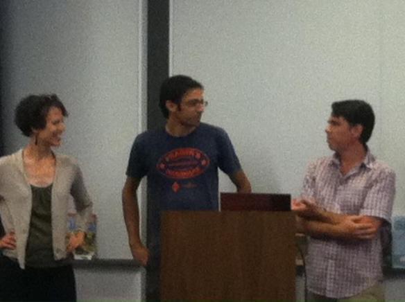 Lee, Brian and Tony presenting at the Tumbleweed workshop