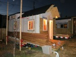 Rain screen siding going up on tiny house