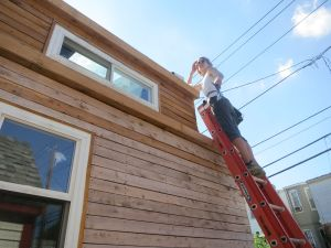 Last of the dormer siding!