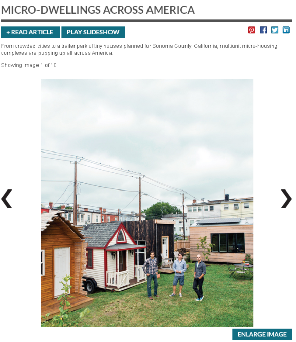 Screenshot of Online Article in Dwell